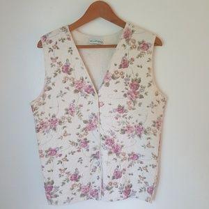 Vintage Willow Ridge floral Vest Top